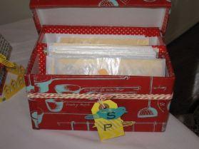 Bridal Shower Recipe Box I designed