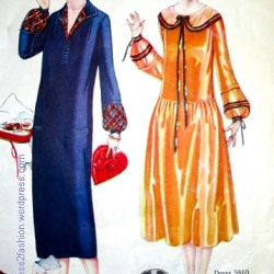 Dresses for women aged 14 to 20, February 1925. Butterick pattern illustrations from Delineator.