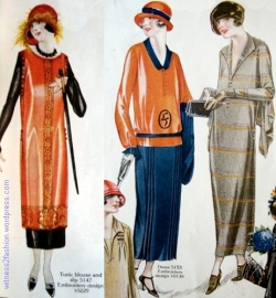 Fashions from Delineator, April, 1924. Butterick pattern illustrations.