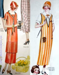 Left, April 1925; right, June 1925. Butterick pattern illustrations from Delineator.