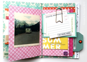 Kelly Purkey stamps and vintage photograph-- hope I get to Glacier someday!