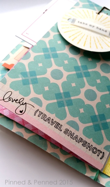 """Great use of bottom """"salvege"""" of paper with that lovely script. Stamp by Kelly Purkey."""